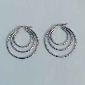 Jewelry - Sterling Silver triple hoop Earrings